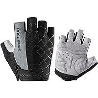 ROCKBROS Road Cycling Gloves for Men Bike Gloves Half Finger Sports Biking Gloves Padded Gloves for Women Spider