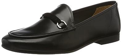 Slipper Loafer Spange - schwarz, Farbe:schwarz;Größe:37