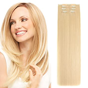 Amazon 16seamless clip in hair extensions with invisible 16quotseamless clip in hair extensions with invisible thin skin weft remy human hair thick pmusecretfo Image collections