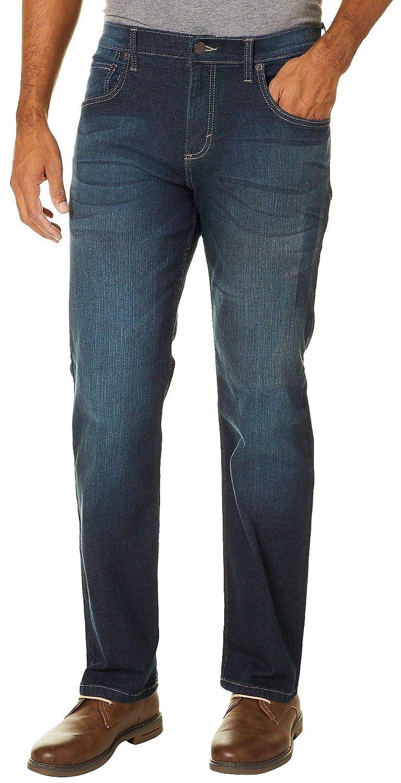 7264f687 Amazon.com: Wrangler Mens 4-Way Flex Straight Fit Jeans 40W x 30L Deep sea  Blue: Clothing