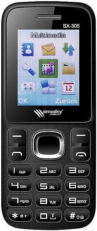 Simvalley Mobile Dual SIM Handys: Dual SIM Handy SX 305 Mit Bluetooth