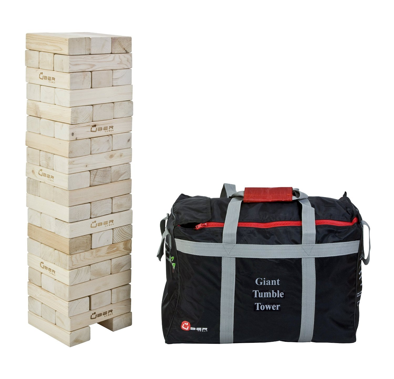 Uber Games Tumble Tower - Giant - Commercial Grade Hardwood by Uber Games