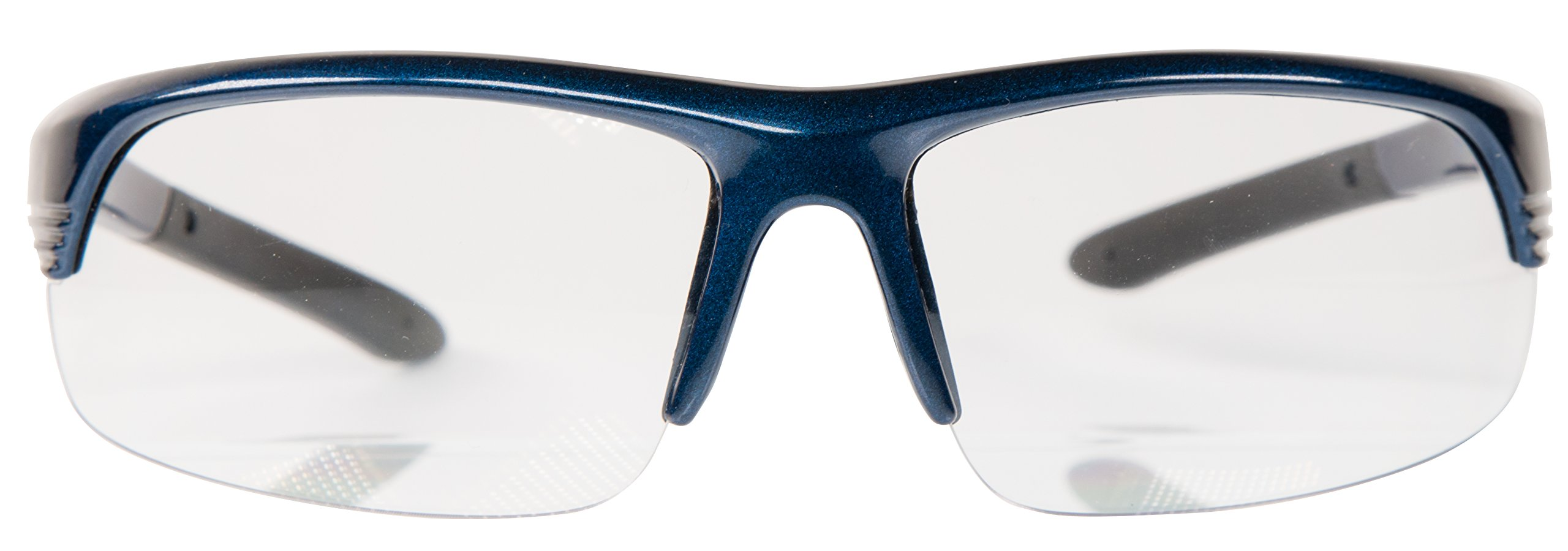 Smith & Wesson Corporal Half Frame Shooting Glasses with No-Slip Rubber, Impact Resistance and Storage Bag for Shooting, Working and Everyday Use by SMITH & WESSON