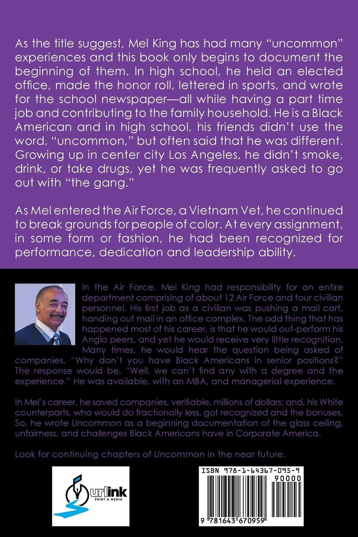 Uncommon: A Black Man's Journey: Mel King: 9781643670959