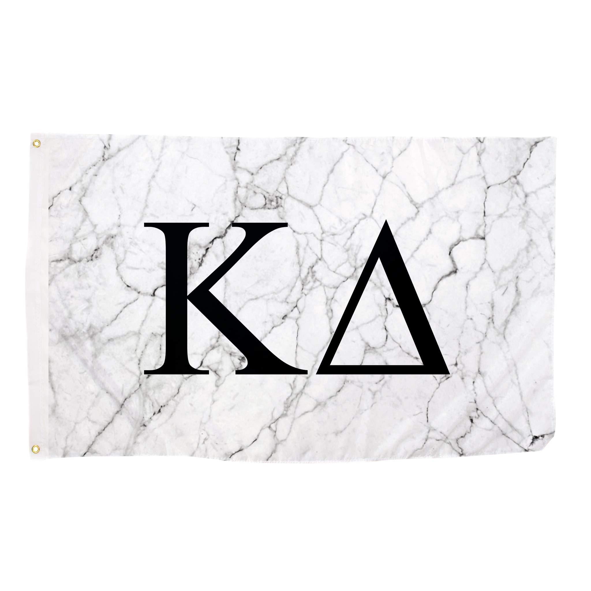 Kappa Delta Light Marble Sorority Letter Flag Banner 3 x 5 Sign Decor KD
