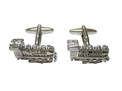 8b54d87325d1 Clothing, Shoes & Jewelry Silver Toned Locomotive Train Tie Tack