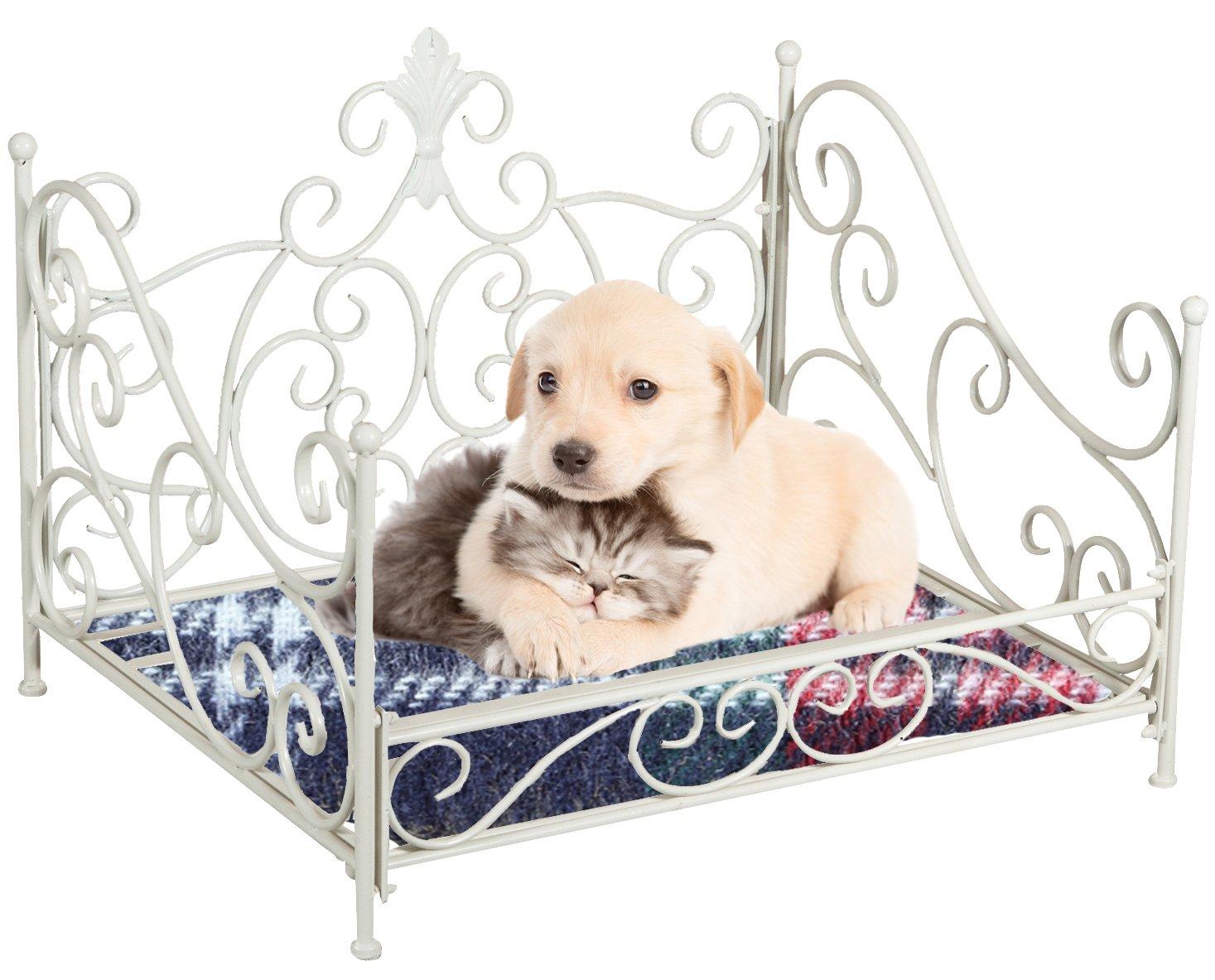 Lettino cuccia per cani e gatti L68XPR57XH49, 5 cm Biscottini