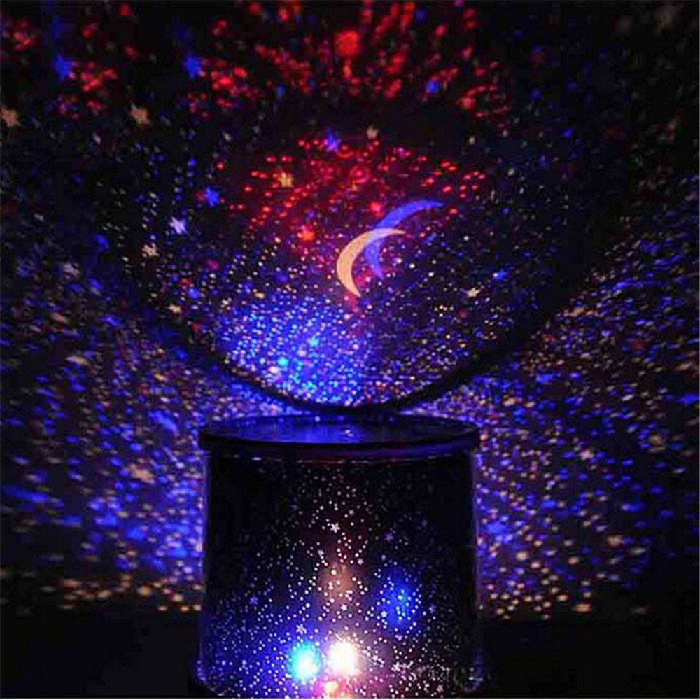 Night Stars Bedroom Lamp Star Projector Light Project On The Walls And Ceiling Amazonco