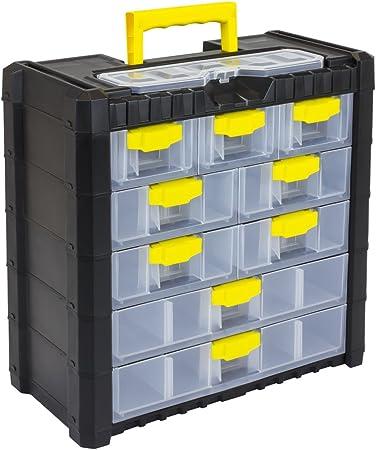 Prosper Plast 5 Multicase Cargo 501 Boite De Rangement Avec 9 Tiroirs Amazon Fr Jardin