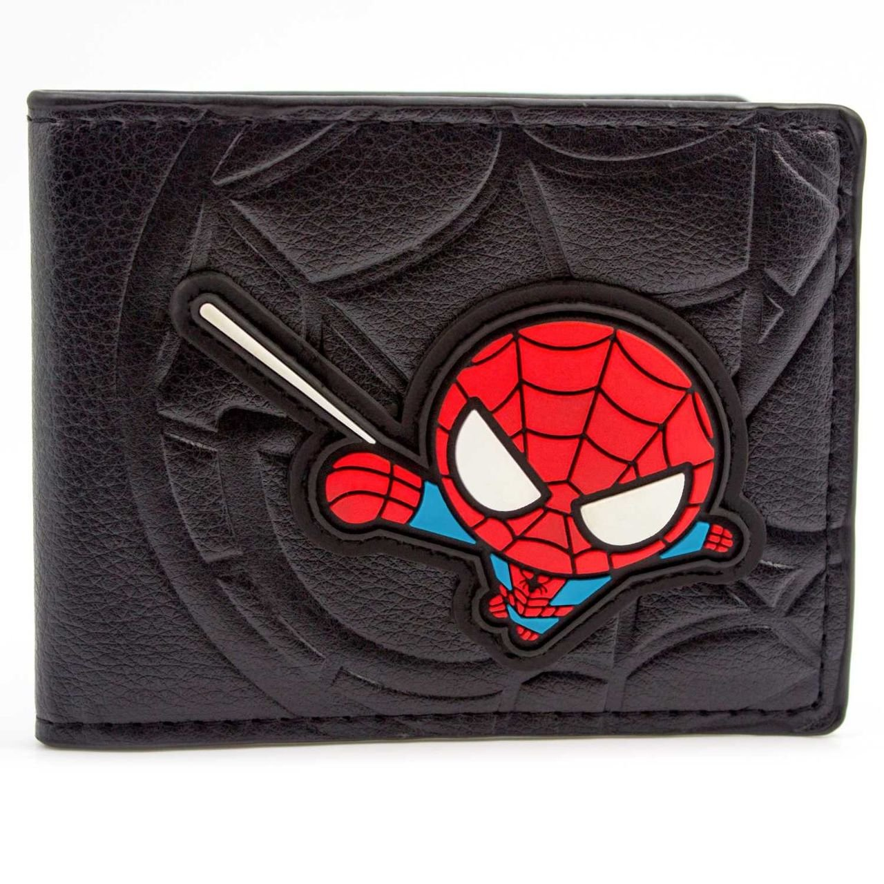 Marvel Spider-Man Cartoon Web Sling Black ID & Card Bi-Fold Wallet