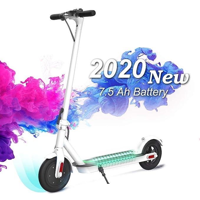 COLORWAY Patinete Eléctrico -8.5 Pulgadas Scooter Eléctrico Plegable Batería 7.5Ah con Faro y Luz de Freno?Ideal para Desplazamientos Urbanos