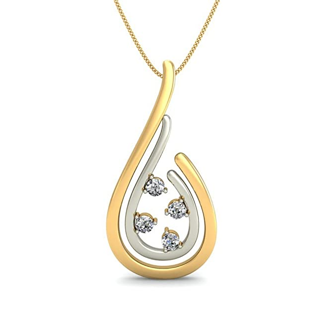 Belle Diamante 14KT Yellow Gold and Diamond Pendant Women