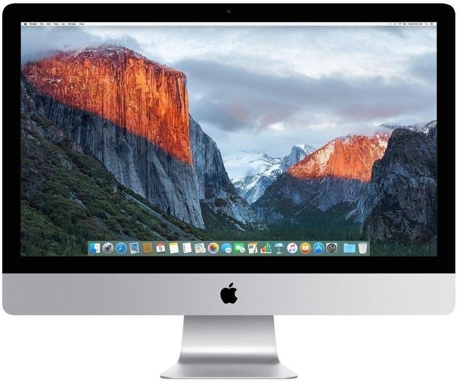 "Apple iMac MK482LL/A 27"" Intel Core i5-6600 X4 3.3GHz 8GB 1TB, Silver (Renewed)"