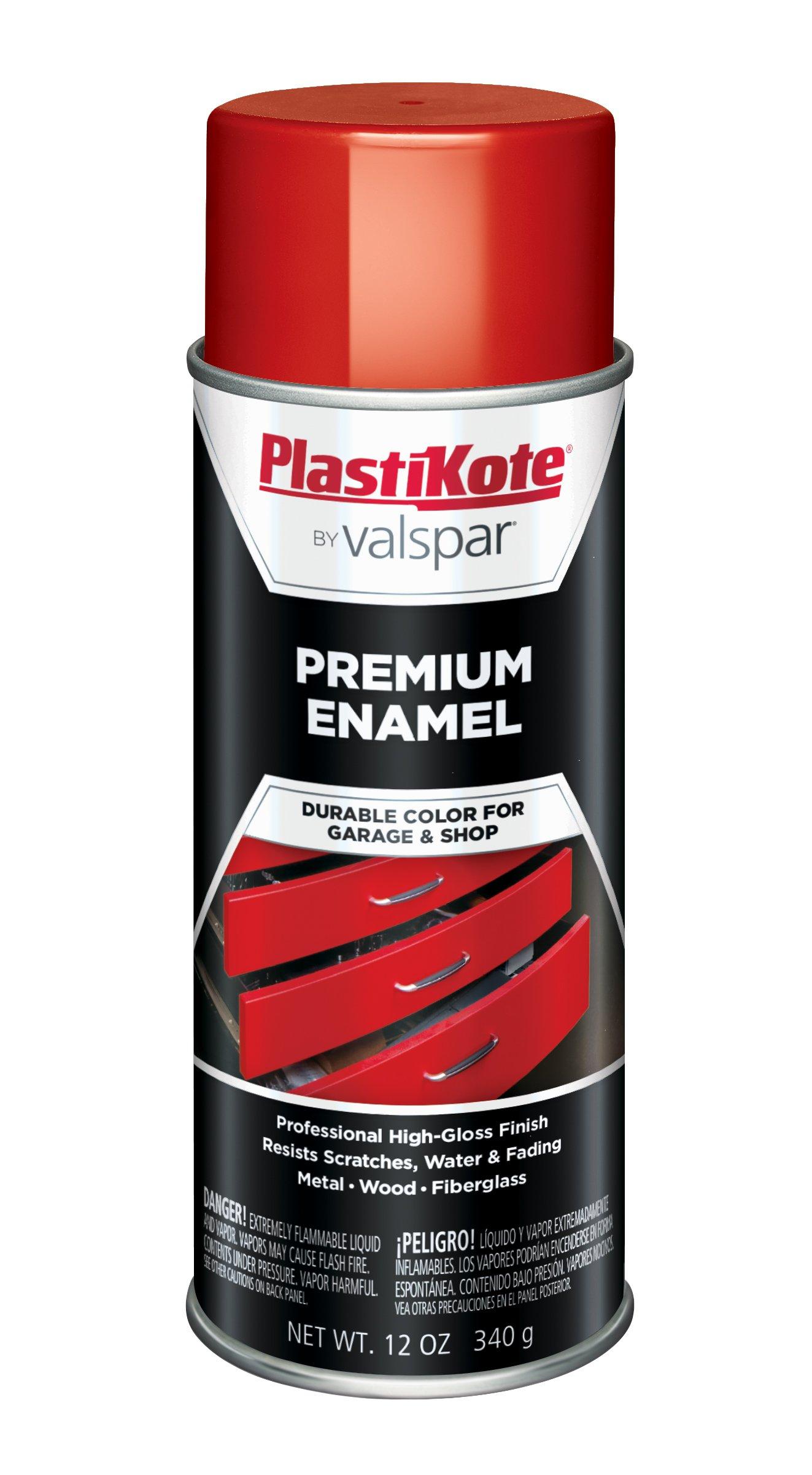 PlastiKote T-6 Swift Red Premium Enamel Spray Paint, 12 oz.