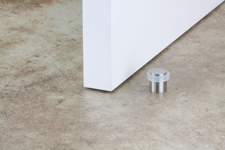 EVI Herrajes I-157-B caoutchouc  blanche stainless steel finition inox brille pack de 2 unit/és Butoir de porte
