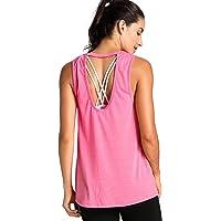 Meliwoo - Camiseta Yoga Tirantes Prendas Deportivas Para