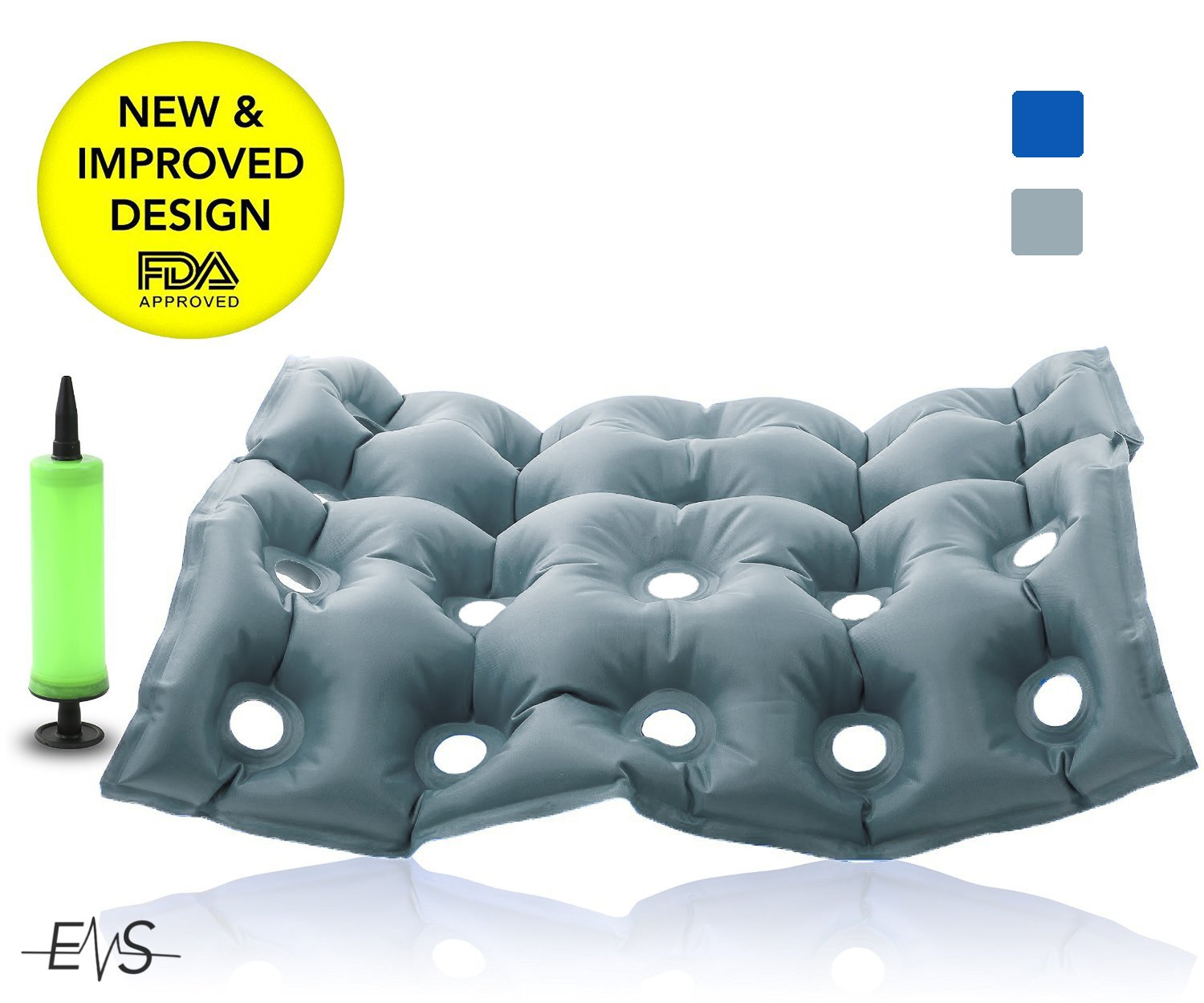 People sitting in waffle chair - Premium Air Inflatable Seat Cushion 17 X 17 Heat Sealed Construction For Durability