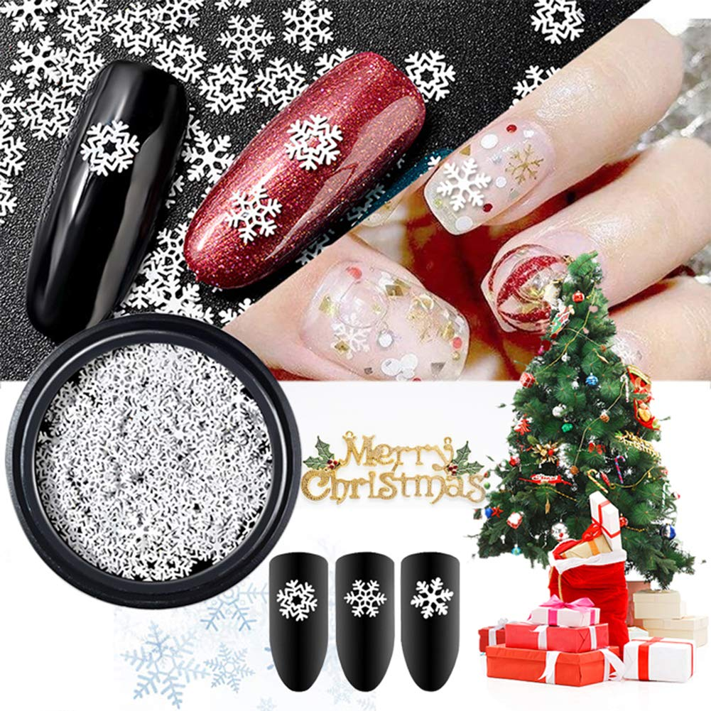 Allbesta 1 Box Thin Sheet Schneeflocke Design Nail Art Decorations ...