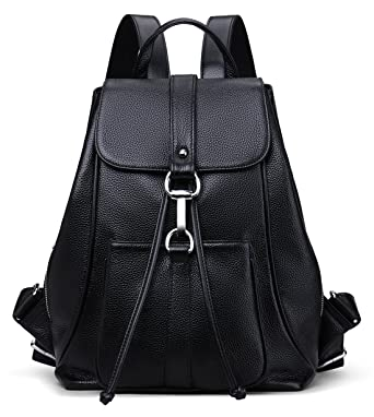 Amazon.com | New vintage Women Real Genuine Leather Backpack Purse ...