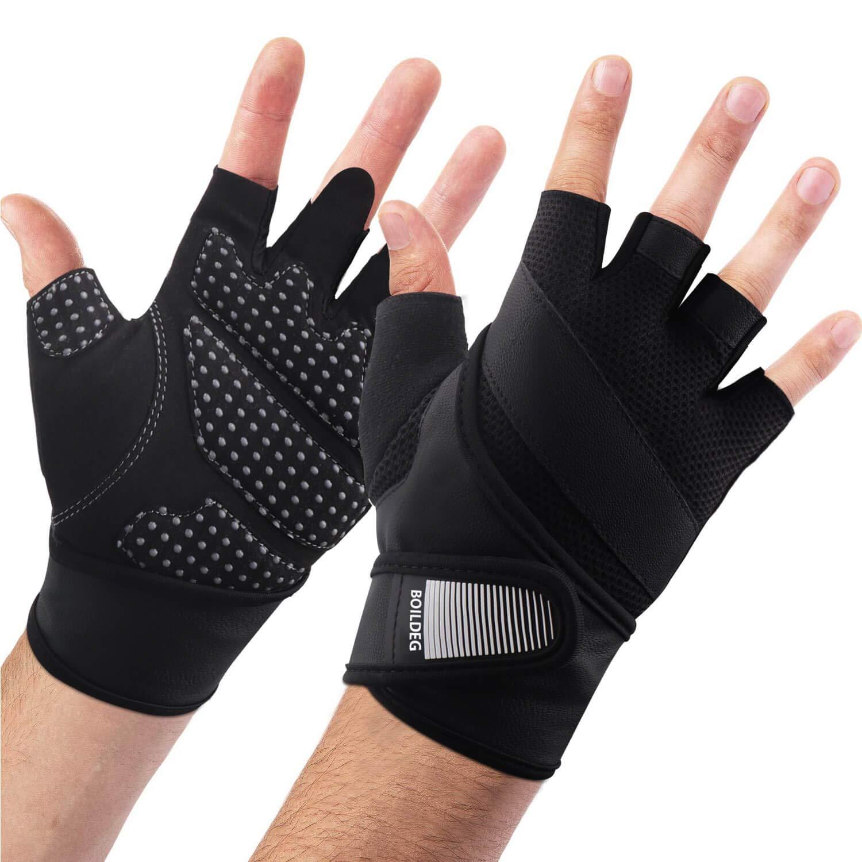 Details about  /Weight Lifting Gloves Wrist Wraps Men Women Bodybuilding Non Slip Crossfit Palm