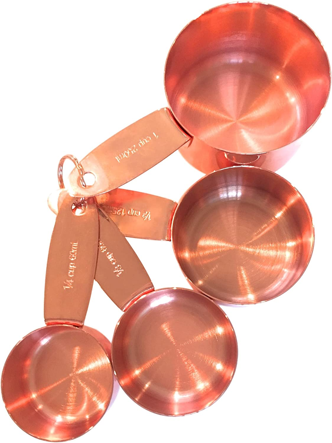 Superior Strength /& Beautiful Finish Cooking Tools Comes Attractively Boxed Unique Accessories Baking Supplies Copper Measuring Spoons For Your Rustic /& Farmhouse Kitchen Decor A Lovely Gift