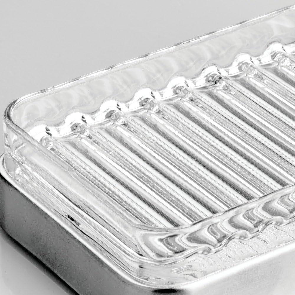 InterDesign - Forma - Accesorio 2 para guardar jabón y estropajo: Amazon.es: Hogar