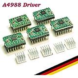 UKCOCO 5pcs Reprap Stepper Driver A4988 Stepper Motor Driver Module disipador de calor para impresora 3D