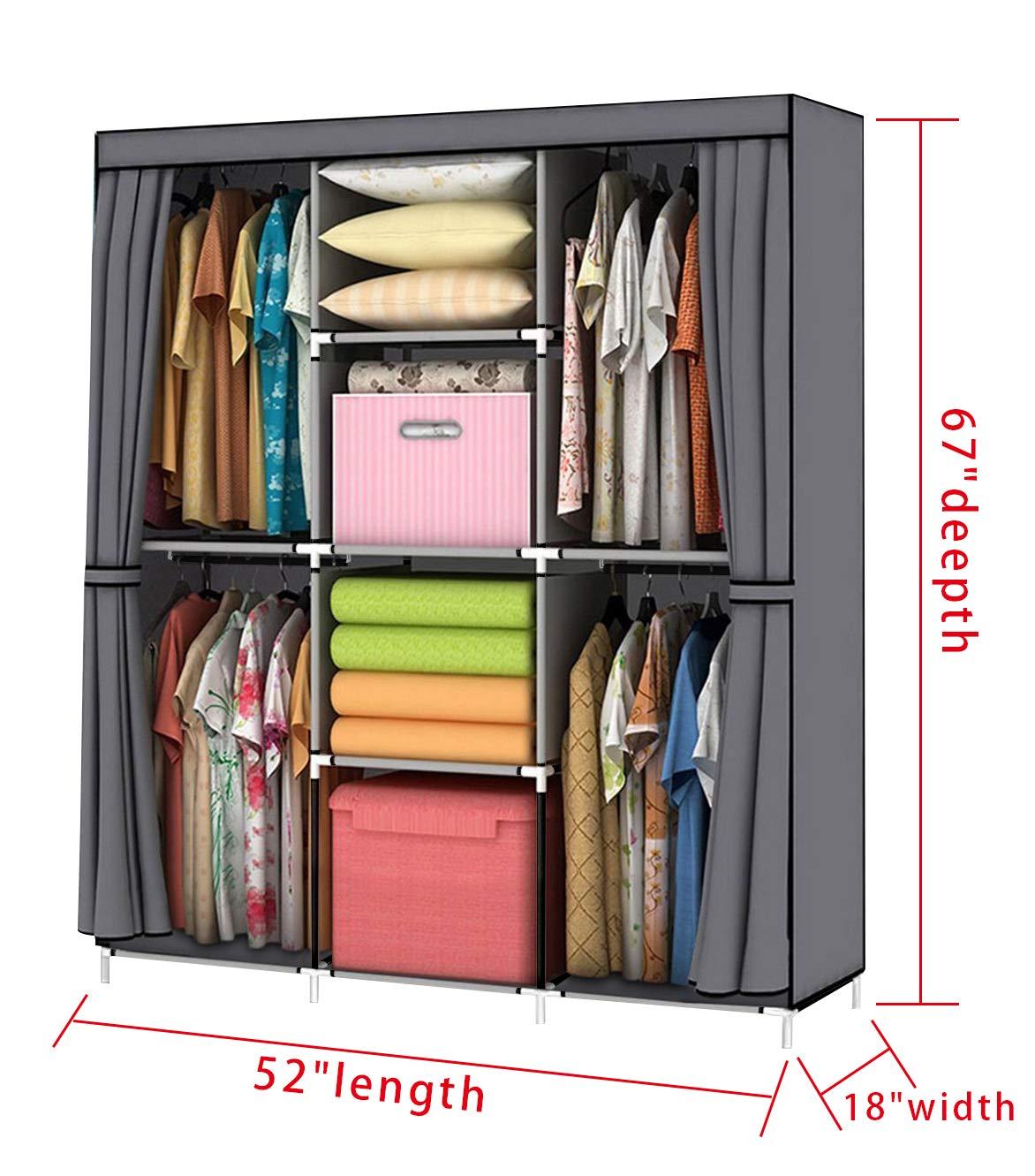 Youud Wardrobe Storage Closet Clothes Portable Wardrobe Storage