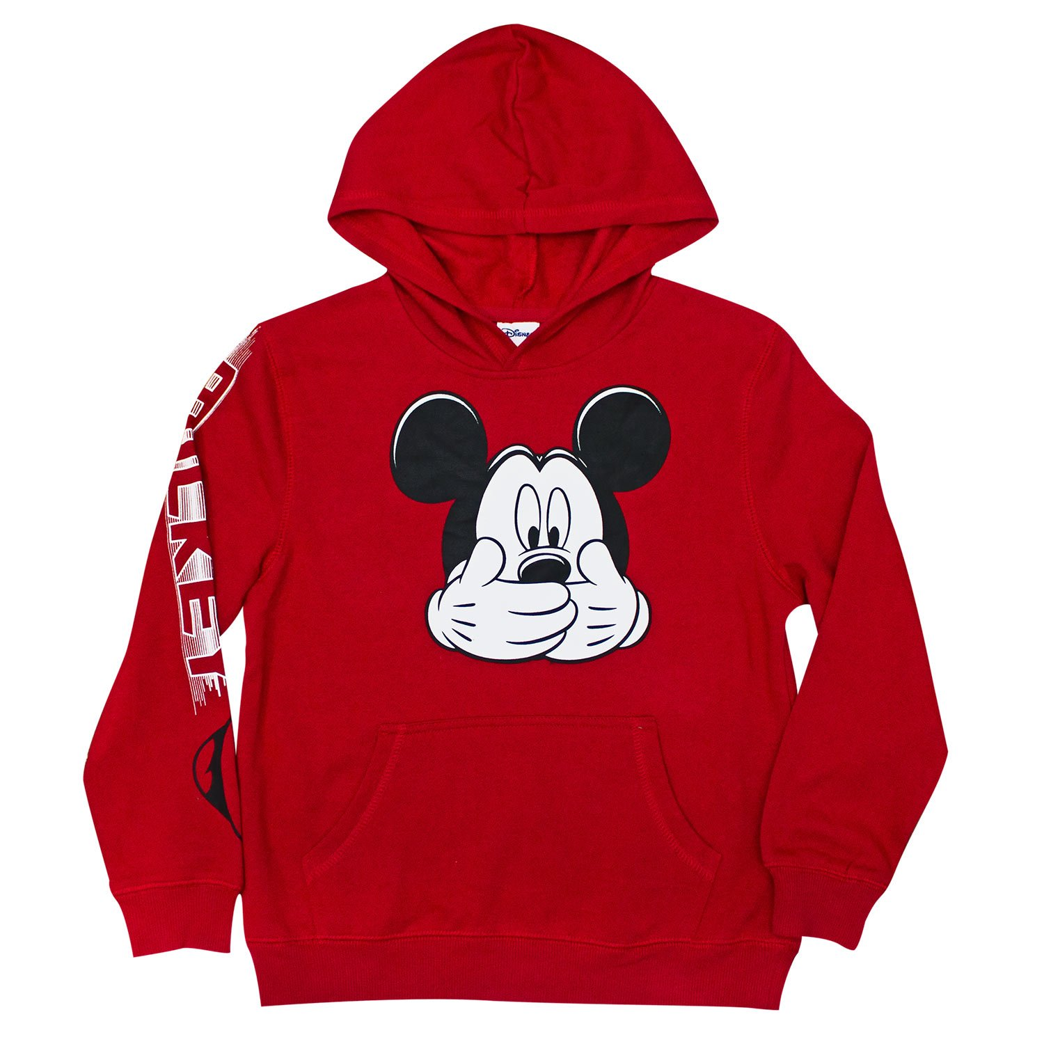 Mickey Mouse Hush Red Boys 8-20 Youth Hoodie