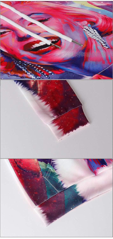 Felpa con cappuccio Inverno Hip-Hop punk Pullover coppia stampa 3D cuciture Colorato Marilyn Monroe maglione con cappuccio moda poliestere strada moda uomini donne belle alla moda Pullovers