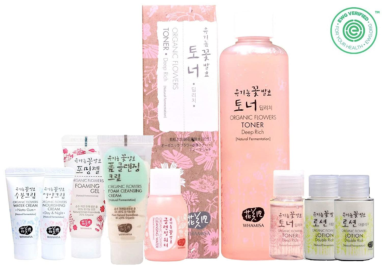 Whamisa Organic Flowers Skin Toner - Deep Rich Essence Toner 120ml + 40ml - Natural fermented | EWG Verified | BDIH Certified | Pure Natural Ingredients & 97.4% Organic ENS Korea Co. Ltd.
