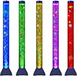 Sensory LED Bubble Tube with 10 Fish, 20 Color Remote and Tall Water Tower Tank LED Night Light for Kids Bedroom, Living…
