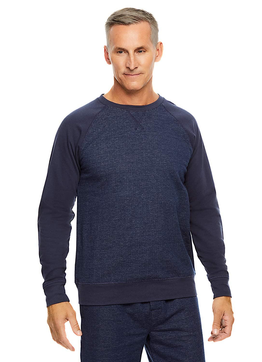 Haggar Men's Raglan Top | Long Sleeved Pajama Pullover
