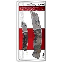 iWork L-75-829 Juego de 2 cuchillas plegables (cúter)