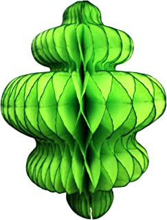 product image for 3-Pack 10 Inch Honeycomb Tissue Paper Hanging Chandelier Decoration (Lime)