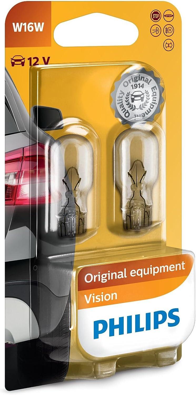 Philips 12067B2 - Bombillas para coche (W16W, 16 W, 2 unidades): Amazon.es: Coche y moto