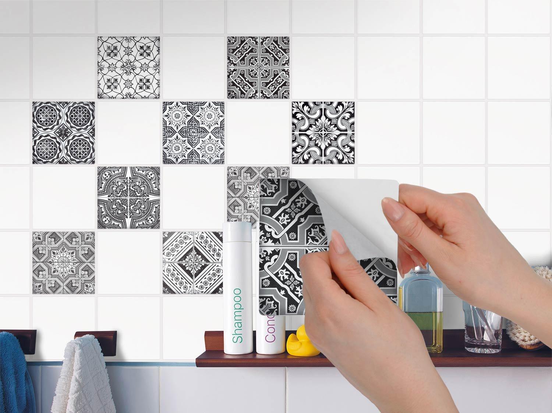Dekorative Klebefolie Küche für Fliesen Aufkleber für Fliesenspiegel ...