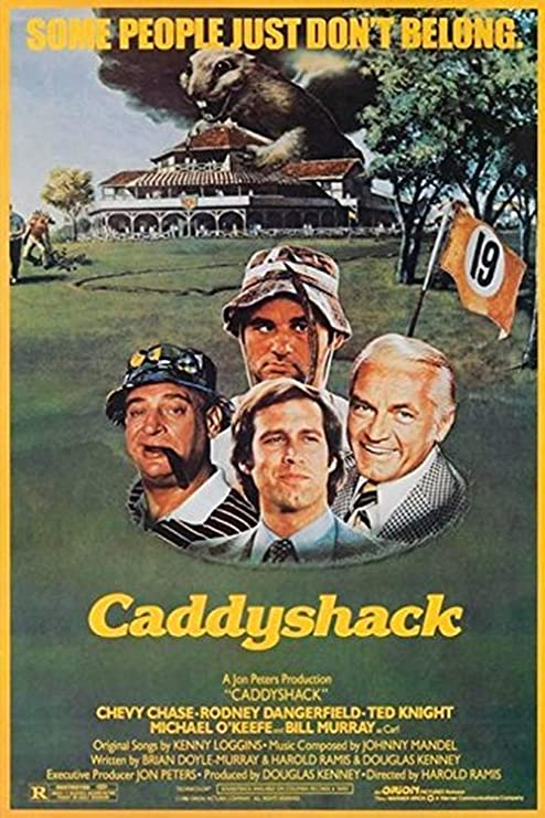 Amazon.com: Buyartforless Caddyshack 1980 36x24 Movie Art Print Poster  Comedy Classic Chevy Chase Rodney Dangerfield Ted Knight Michael O'Keefe  Bill Murray: Posters & Prints