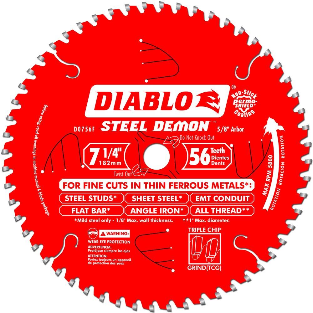 Disco Sierra DIABLO D0756F Acero Demon Ferroso Corte 7 1 /
