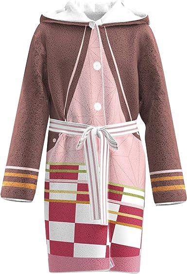 KINOMOTO Onesies Pajamas Adult Kamado Tanjirou Anime Cosplay Costume Cloak Sleepwear for Unisex