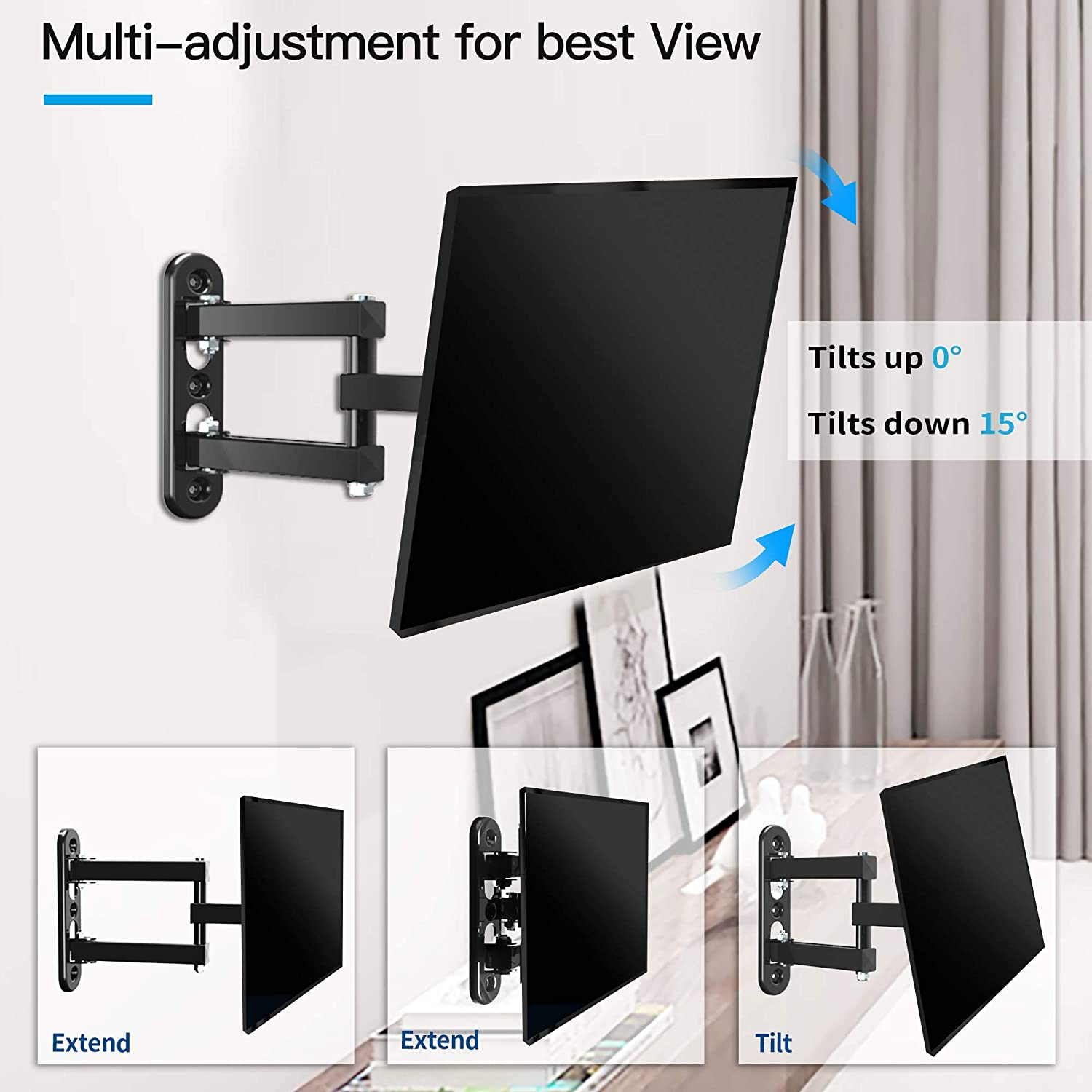 Everstone TV Wall Mount Bracket Fits Most of 23
