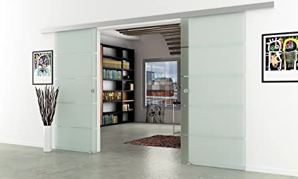 Puertas correderas de cristal planta - Dorma ágil 50 - Ancho: 2050 mm, Altura: 2050 mm | Tiradores ...