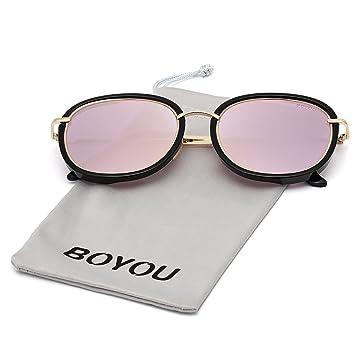 BOYOU Lunettes de soleil femme avec protection UV400 1Rl3f