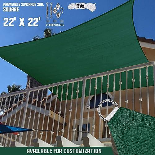 TANG Sunshades Depot 22'x22' Green Sun Shade Sail