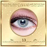 Dahab Sky Contact Lenses, Unisex Dahab Cosmetic Contact Lenses, 9 Months Disposable- Natural and Beauty Collection, Sky…