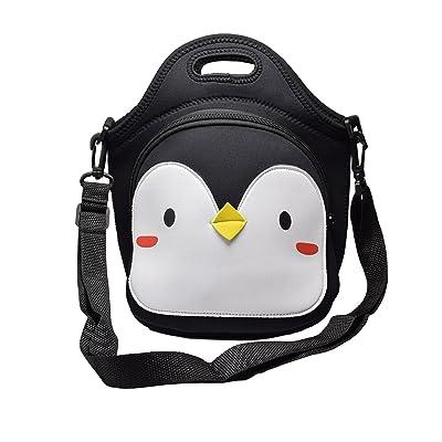 MOT Global Penguin Insulated Neoprene Lunch Bag - Lunch Tote with Adjustable Shoulder Strap by MOT Global