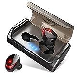 【最先端Bluetooth5.0+EDRが搭載】Bluetooth イヤホン IPX7完全防水 95時間連続駆動 Hi-Fi高音質 3Dステレオサウンド CVC8.0ノイズキャンセリング&AAC8.0対応 自動ペアリング マイク付き 完全ワイヤレス イヤホン 両耳 左右分離型 タッチ式 マイク内蔵 ブルートゥース イヤホン 日本語音声提示 技適認証済 iPhone&Android対応 (ブラック) (ブラック) (ブラック)