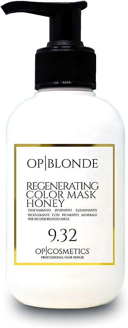 OP|BLONDE MÁSCARA DE COLOR REGENERADORA MIEL 9.32, mascarilla capilar de 250 ml revive el color tratamiento iluminador profesional ideal para el ...