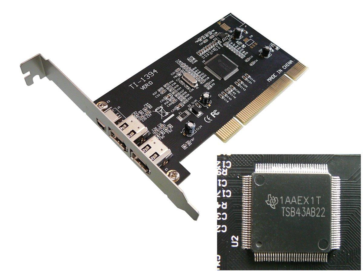 PCI FIREWIRE 400 CARD - IEEE1394a - TEXAS INSTRUMENTS - TI SINGLE ...