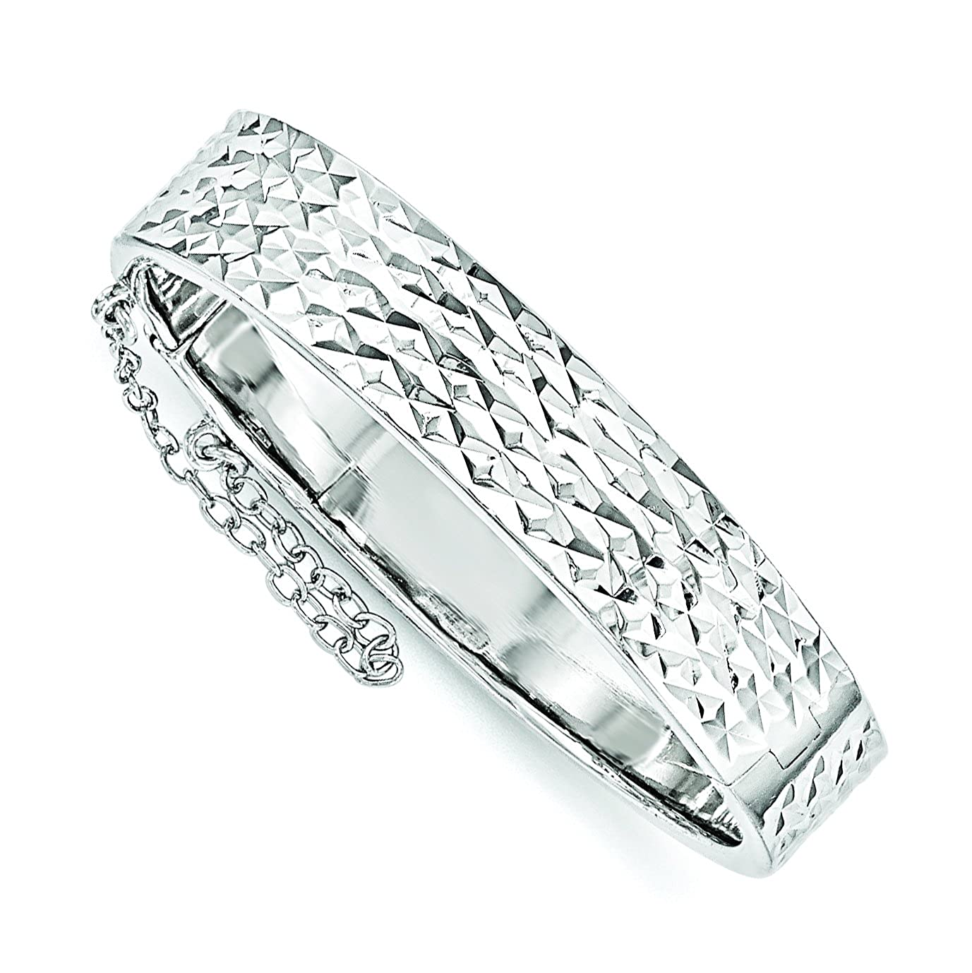 Sterling Silver Just Like Mommy D//C W//Safety Hinged Childs Bangle